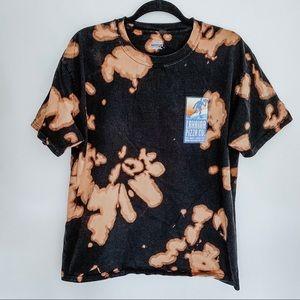 Lahaina Hawaii Pizza Co. Tie Dye Bleached T-Shirt